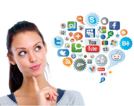 comunicare con i social network